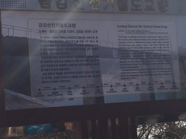 Electrical Railway Bridge on Cheorwon DMZ Tour in South Korea