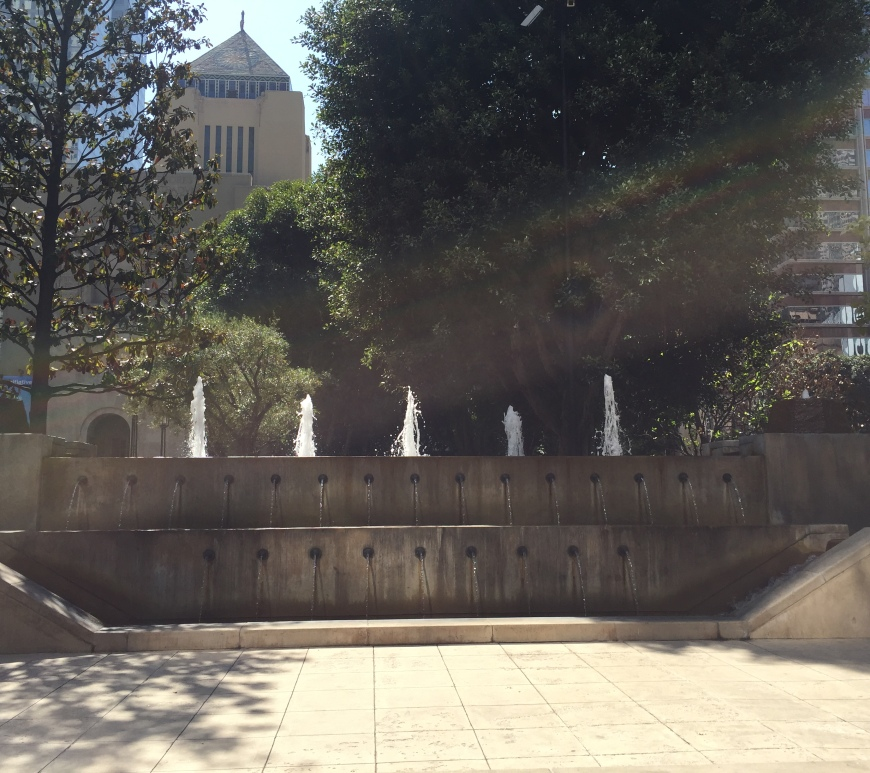 Lawrence Halprin: Fountain in Maguire Garden, Los Angeles Central Library