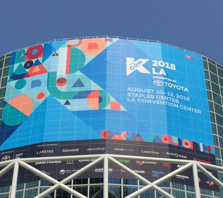 KCON 2018 LA banner