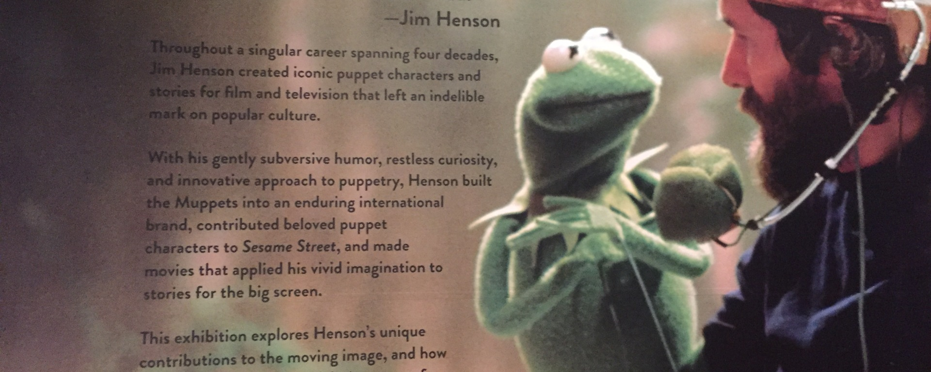 Skirball, Jim Henson, The Muppets