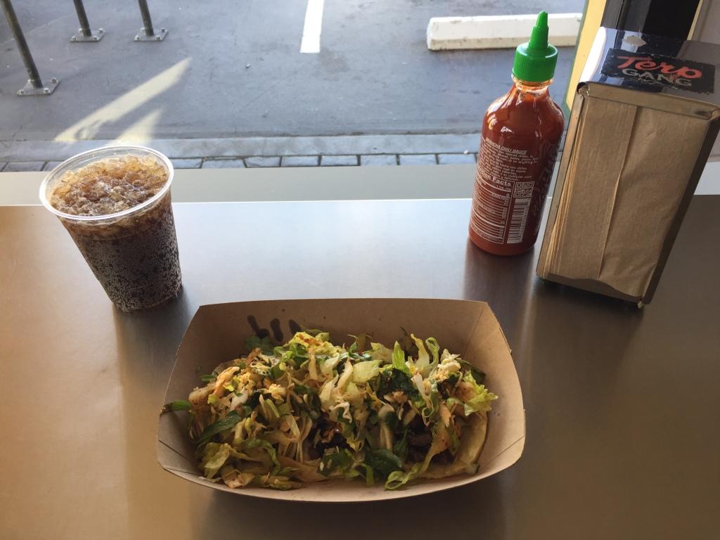 Kogi BBQ short rib tacos, Taqueria, Palms, CA